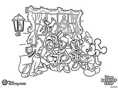 Free Coloring Pages: Disney Christmas Coloring Pages, Disney Cartoon ...