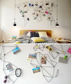 Stylized world map photo holder decor idea wall ideas best travel inspired home decoration old decorating . Diy Casa, Bedroom Decor, Wall Decor, Travel Wall, Fun Travel, Travel Bedroom, Home And Deco, Inspired Homes, New Room