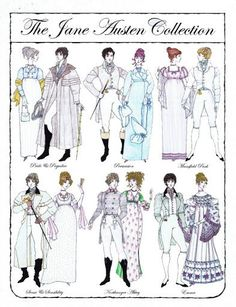 Jane Austen paper dolls by Donald Hendricks
