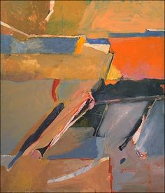 "Richard Diebenkorn 'Berkeley Series' - 1954 #8.   "" The early Berkeley pictures, such as Berkeley #8 (1954) are, like the previous works done while still in Albuquerque, cut by horizontal lines or bands of colour suggesting a hilly landscape. Their colours are also reminiscent of the pinks and browns of the earlier New Mexico paintings.""  Poul Webb)"