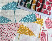 Hand printed fabric sample pack