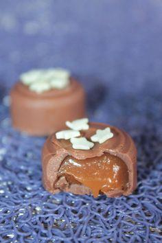 Chocolats à la Pralinoise Fourrés au Caramel au Lait