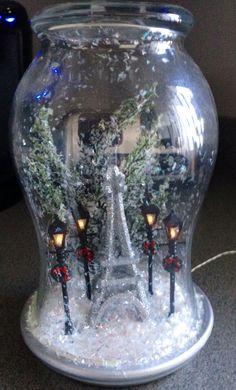 Paris snow globe diy