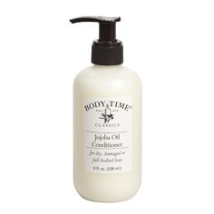 This rich conditioner is particularly effective for dry, damaged, brittle or chemically treated hair, as well as for full bodied or curly hair. Jojoba oil, from the bean of a desert shrub that grows in the Southwestern United States, is really a liquid wax that penetrates skin and hair quickly and has moisture enhancing and conditioning effects. Jojoba oil is extremely stable so it does not turn rancid easily and it is virtually odorless