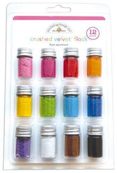 Doodlebug Design - Crushed Velvet Flock - Flock Assortment at Scrapbook.com $16.14