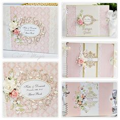 ArtMagda wedding guest book in pink :) Wedding Album Books, Wedding Guest Book, Mini Scrapbook Albums, Scrapbook Journal, Signature Book, Some Cards, All Paper, Guestbook, Vintage Crafts