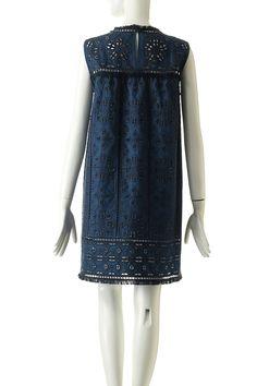 アイレット&レースノースリーブドレス シー ニューヨーク/Sea New York
