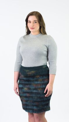 Maeve Feathered Wool Pencil Skirt