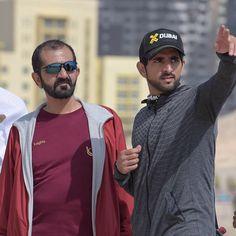 Mohammed bin Rashid bin Saeed Al Maktoum y su hijo, Hamdan bin Mohammed bin Rashid Al Maktoum, X Dubai, 26/02/2016. Vía: sultan41