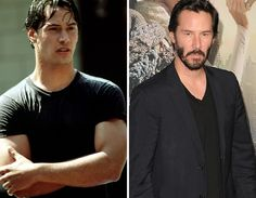 Men of the -- Then & Now Celebrities Then And Now, Young Celebrities, Celebs, Keanu Charles Reeves, Keanu Reeves, Stars Then And Now, Dream Guy, Gorgeous Men, Actors & Actresses