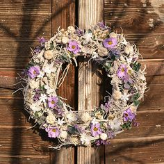 Hydrangea / Veniec na dvere s kosatcami Floral Wreath, Wreaths, Home Decor, Floral Crown, Decoration Home, Door Wreaths, Room Decor, Deco Mesh Wreaths, Home Interior Design