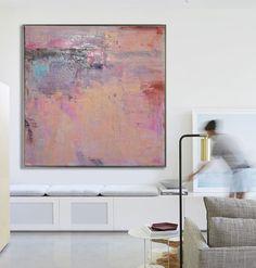 Large Abstract Art Handmade Oil Painting On Canvas door FabuArtDecor