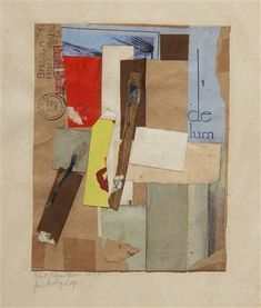 Kurt Schwitters, Paper Size, Original Artwork, Auction, Collage, Artist, Holidays, Prints, Painting