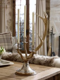 Living in the mountains - Channing Stag Candleabra - Ralph Lauren Home Decor, Alpine Lodge, Candleabras, Cabin Decor, Home Decor, Rustic Elegance, Lodge Style, Antlers Decor, Ralph Lauren Home