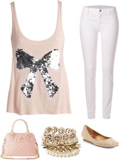 """bows with sparkles!"" by rachel-dominguez on Polyvore"