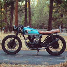 """A Honda CB360 built by @westbound.co. Good work!  Tag #croig to be featured on #caferacersofinstagram!"""
