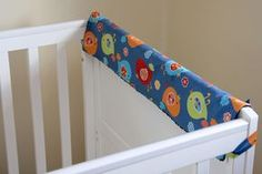 Crib Rail Teething guard!   Great Idea and fun easy project by Abby @ Things for Boys  --this is one for down the road...