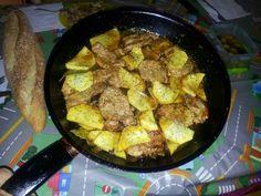 Solomillo con aroma campestre y reducción de vino dulce con patatas