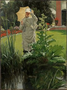 """James Tissot, Spring Morning, c. 1875 