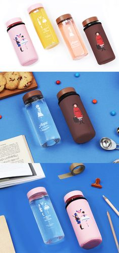Literature Tea Bottle & Sleeve Set is one fabulous water bottle! This glass bottle has a lovely artwork inspired by famous literature, and has a matching sleeve to cover the bottle! It's perfect for adding tea, juice, water, or even your snacks with the wide opening. The colors and design make my beverages more appealing than ever!