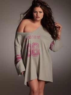 Football Jersey Nightshirt by Hips  & Curves