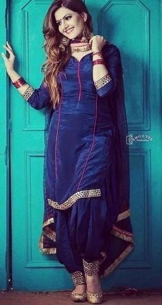 Girls' Silk Blend Salwar Kameez Traditional South & Central Asian Clothing for sale Patiala Suit Designs, Salwar Neck Designs, Kurti Designs Party Wear, Dress Neck Designs, Punjabi Suit Neck Designs, Simple Indian Suits, Punjabi Suit Simple, Salwar Suits Simple, Punjabi Suits Designer Boutique
