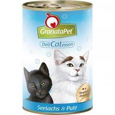 Aus der Kategorie Nassfutter  gibt es, zum Preis von EUR 27,95  mit feinsten und frischen Zutaten, ohne Getreide mit Lachsöl, Taurin und Granatapfelkernen<br /><br />GranataPet DeliCatessen Seelachs & Pute<br /><br />wird aus feinsten und frischen Zutaten in Deutschland hergestellt. Die enthaltenen Granatapfelkerne sollen als Zellschutz und zur Stärkung des Immunsystems Ihrer Katze beitragen. Das Lachsöl schützt die Haut Ihrer Katze und bewirkt bei ihr ein seidiges, glänzendes Fell.<br /><br…