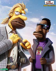 GRAND THEFT OTTO - The Simpsons/GTA Mashup Art Series — GeekTyrant