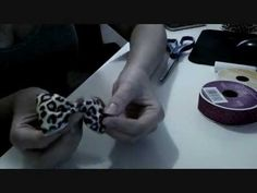 Great how to tutorial video on how to make bows out of ribbon