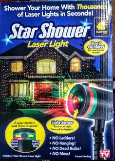 As Seen On TV STAR SHOWER Laser Light  SHIPS TODAY FREE FROM THE USA  #BulbHead