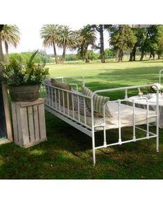 Muebles de hierro para jardin terraza balcony outdoor pinterest steel furniture metal Almohadones exterior