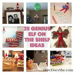 25 Genius Elf on the Shelf Ideas! via @howdoesshe