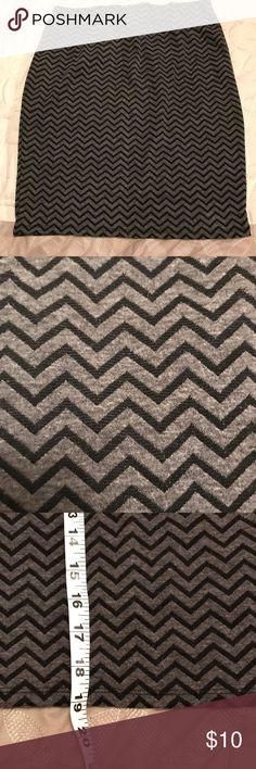 Skirt Chevron patterned skirt with elastic waist. Joe B Skirts Midi