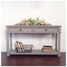 Side table in Fusion Mineral Paint Algonquin by Lemon drops Reclaimed
