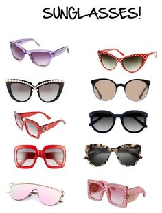 """Sunglasses"" by quasia-taylor on Polyvore featuring Ace, Balenciaga, Gucci, Anna-Karin Karlsson, ZeroUV and Jason Wu"