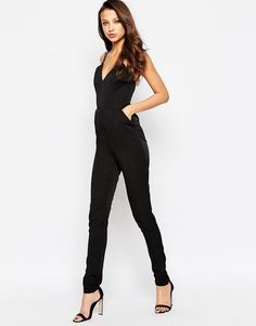 2ea17eb95d Image 4 of True Decadence Tall Strappy Plunge Front Jumpsuit Online  Shopping Clothes