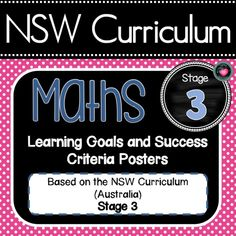 NSW Curriculum Learning Goals posters adapted from the Australian Curriculum with editable success criteria. Classroom Posters, Primary Classroom, School Classroom, Classroom Activities, School Fun, Classroom Decor, High School, Holiday Activities, Middle School