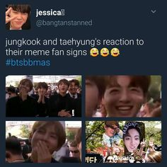 They look so proud of ARMYs