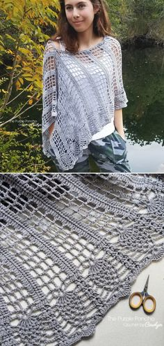Lightweight Ponchos Free Crochet Patterns Pineapple Poncho Free Crochet Pattern Always aspired to discover ways to knit, but uncertain the place to. Crochet Poncho Patterns, Crochet Scarves, Crochet Shawl, Crochet Clothes, Free Crochet, Knit Crochet, Crochet Gratis, Scarf Patterns, Crochet Summer