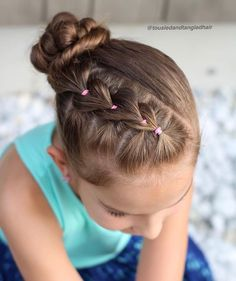 Toddler Hairstyles Little Girl Hairstyle French Braid Pony Tail Curls High Pony