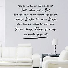 Life Goes Wall Sticker – AUD $ 30.87