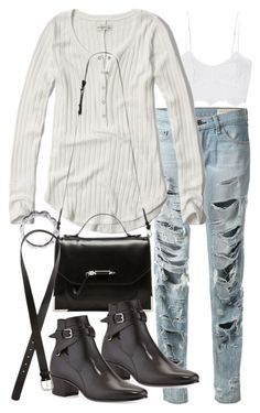 """""""Untitled #18527"""" by florencia95 ❤ liked on Polyvore featuring moda, Miguelina, rag & bone, Abercrombie & Fitch, Mackage, Yves Saint Laurent, Chanel e H&M"""