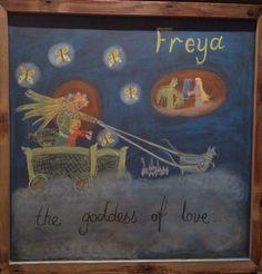 Grade 4- Norse Mythology. Freya Grade 3, Fourth Grade, North Mythology, Chalkboard Drawings, Goddess Of Love, Waldorf Education, History Books, Kids Learning, Vikings