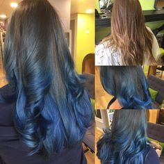 Blue ombré See this Instagram photo by @limelighthair • 9 likes