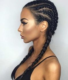 Cool, Kim K Inspired Braided Hairstyle for Summer