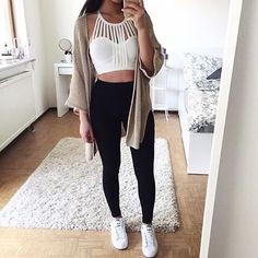 leggings cardigan