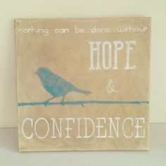 Aged canvas art with Helen Keller quote -   Homemade DIY Projects & Tips by Cameron: Last Minute Gifts