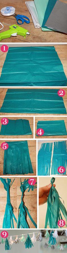 Oh So Lovely: Tissue Tassle Garland