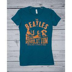 Custom Made T Shirts Music Beatles Shirt T Shirts Rock Tee Band Shirt... ($9.99) ❤ liked on Polyvore