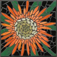 Drumstick Australian Native Wilflower mosaic mural in ceramic tiles by Brett Campbell Mosaics